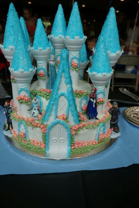 Stupendous Frozen Wilton Castle Cake With Images Cake Kit Adult Birthday Funny Birthday Cards Online Inifodamsfinfo