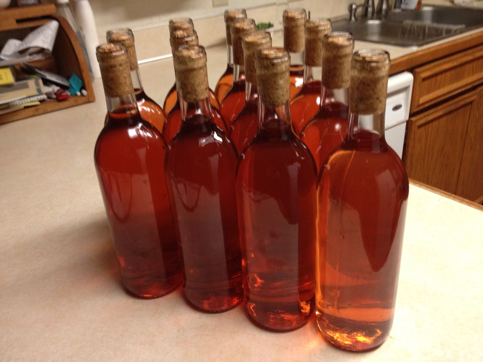 May S Salmonberry Wine Bottled Tonight Very Pretty Color Of Rose And Dry Hint Of Raspberry Should Be Ready To Drink Next Su Bottle Wine Bottle Wild Berry