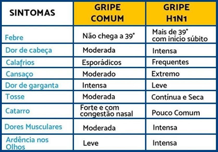 Voce Sabe A Diferenca Entre A Gripe Comum E A Gripe H1n1 Gripe