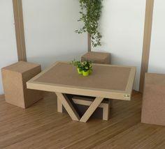 Meuble Ecologique 100 Recyclable Table Basse Mobilier De Salon Mobilier Ecolo Design En Carton