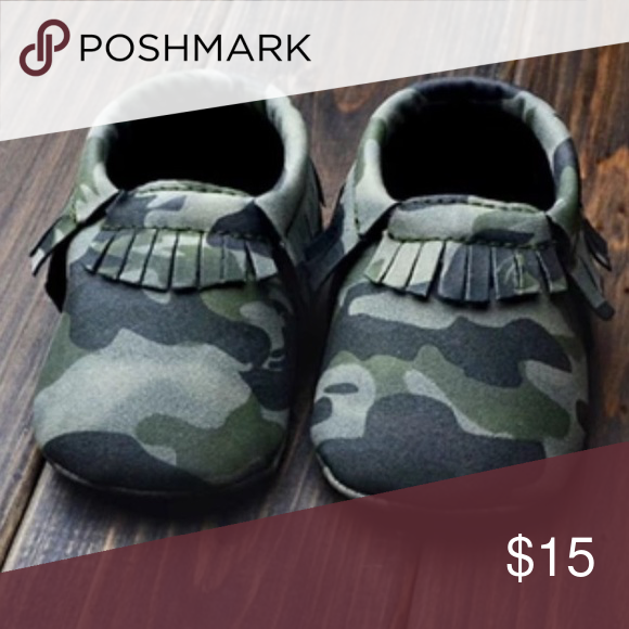 Camo Baby Moccasins Baby moccasins in