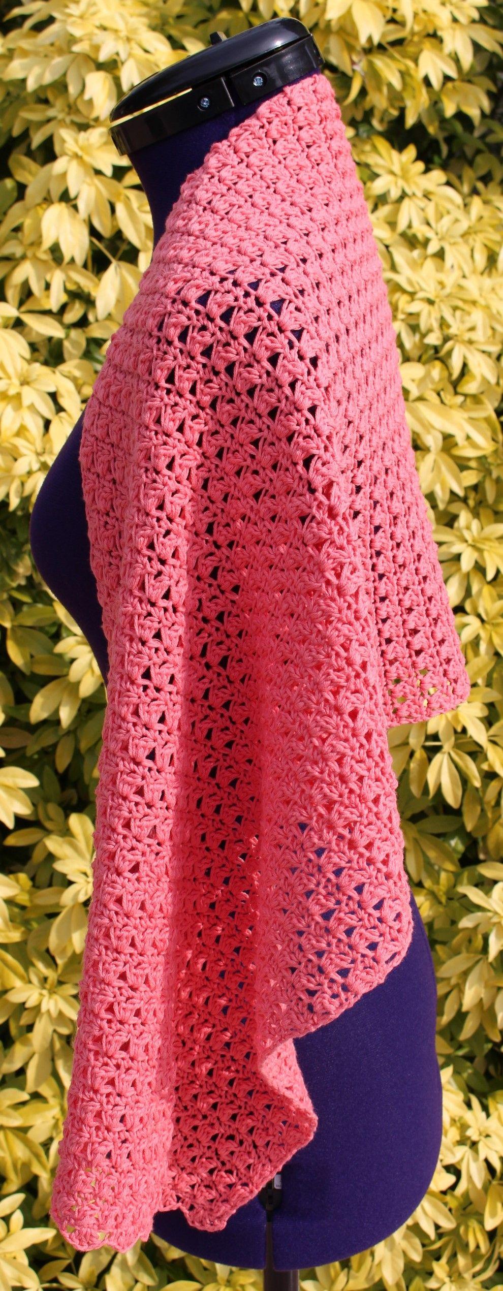 tole au crochet en coton couleur p che. Black Bedroom Furniture Sets. Home Design Ideas