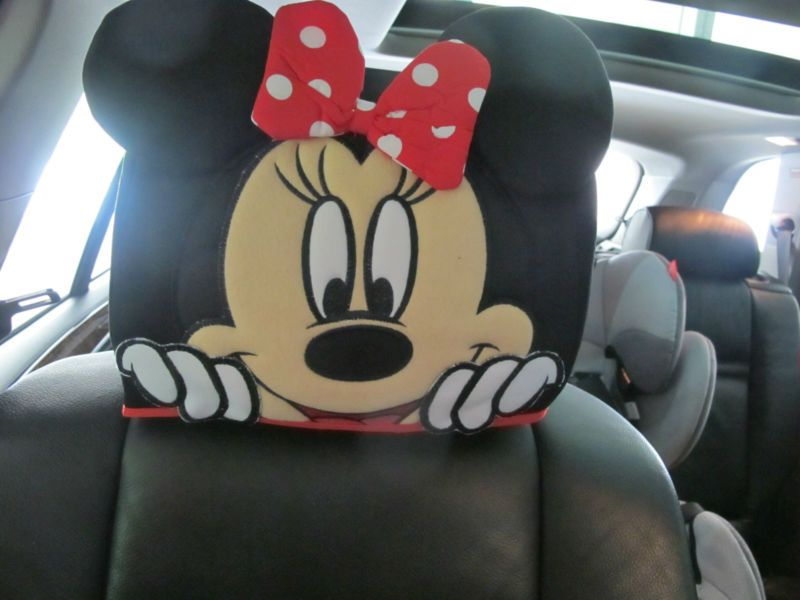 Disney Mickey Mouse Doll Toys Car Accessories Head Rest Cover Seat Cover X 1 PCS