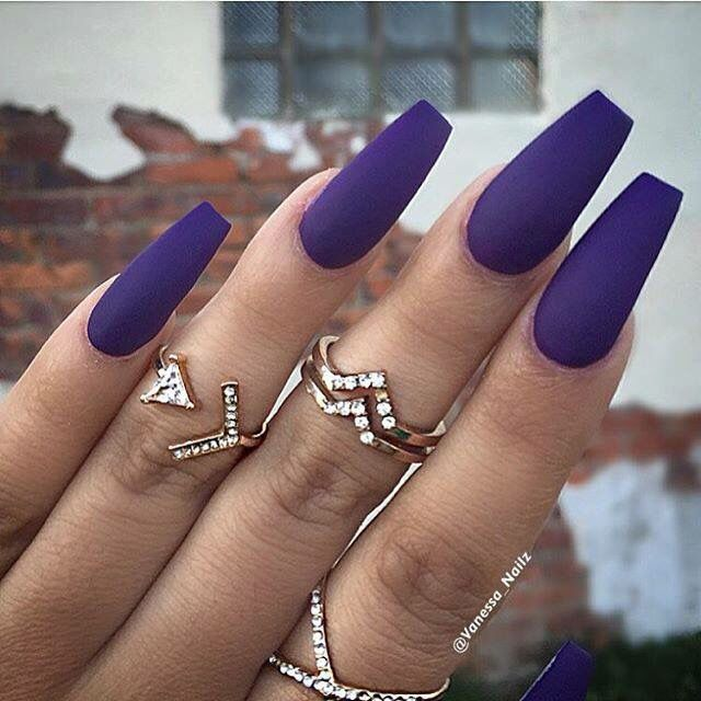 Dark Purple A M Purple Acrylic Nails Purple Nails Dark Purple Nails