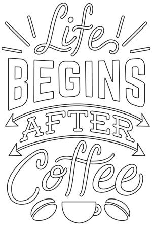 Coffee Break - Life Begins After Coffee design (UTH12857) from UrbanThreads.com