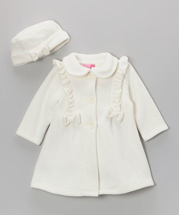 Good Lad Cream Ruffle Fleece Coat   Hat - Infant   Toddler  ea67a86efb1d