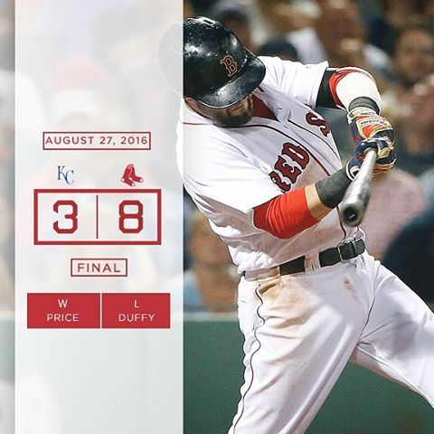 Dustin Pedroia flirts with history as #RedSox dominate Royals. 8/27/16°