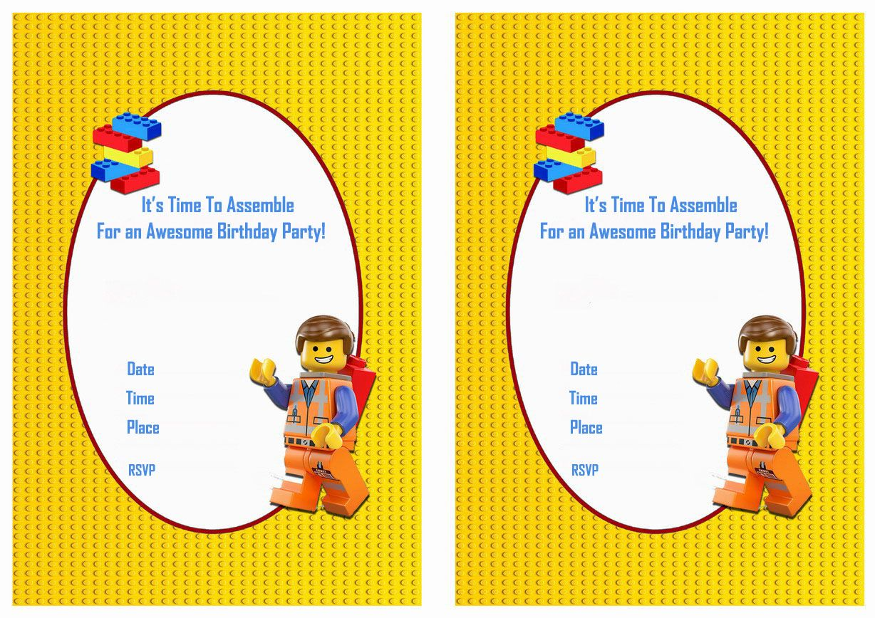 The Lego Movie Free Printable Birthday Party Invitations