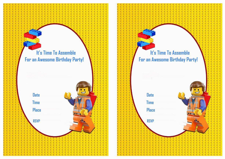 The Lego Movie FREE Printable Birthday Party Invitations | Birthday ...