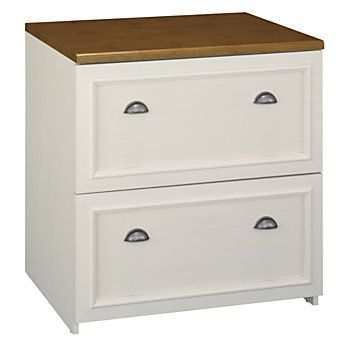 Bush Fairview Lateral File 30 34 H X 29 58 W X 20 78 D Antique White By Office Depot Officemax Lateral File Cabinet Filing Cabinet Bush Furniture