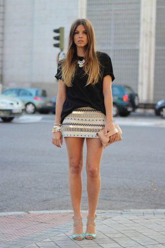 6ad40c837 Falda abalorios zara | Moda | Pinterest | Fashion, Skirts y Style