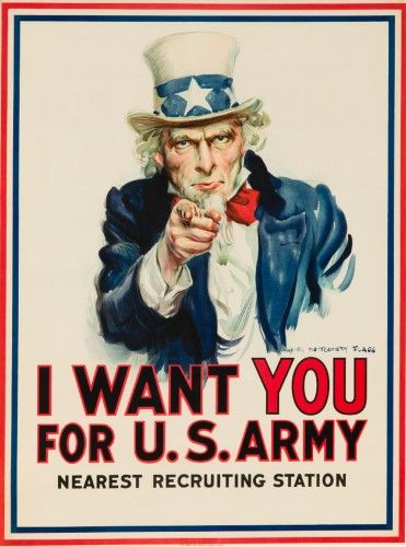 I Want You For Us Army Artist Flagg Usa C 1917 Vintage