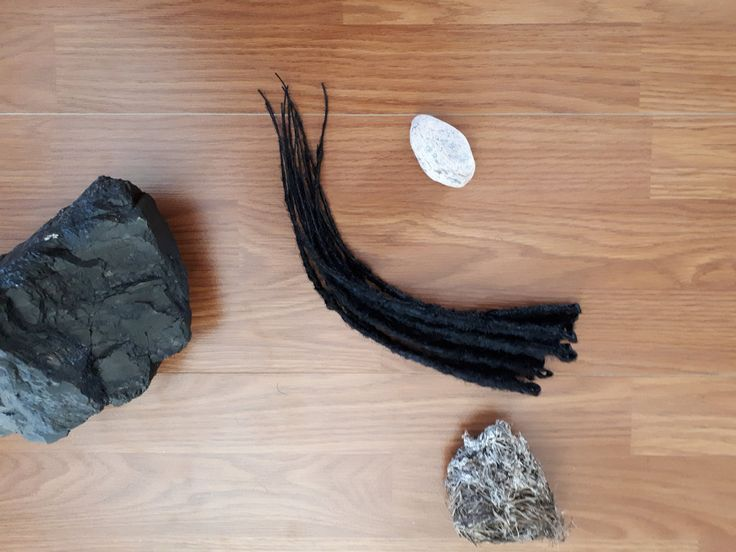 Ready to Ship Dreads, Synthetic Dreadlocks, 12 Black Dreads, Crochet Wrappy, Natural Dreadlocks, SE Accent Kit, Black Hair Extensions