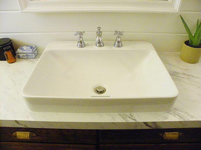 love this sink - Kohler K-2660-8-0 Vox Rectangle Vessel with ...
