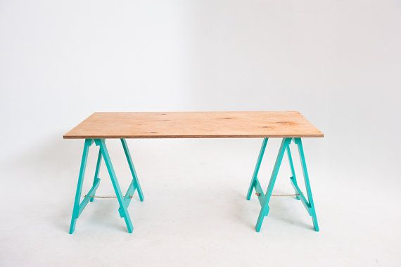 Vintage Green Legs Trestle Table By Sevenhandshigh On Etsy