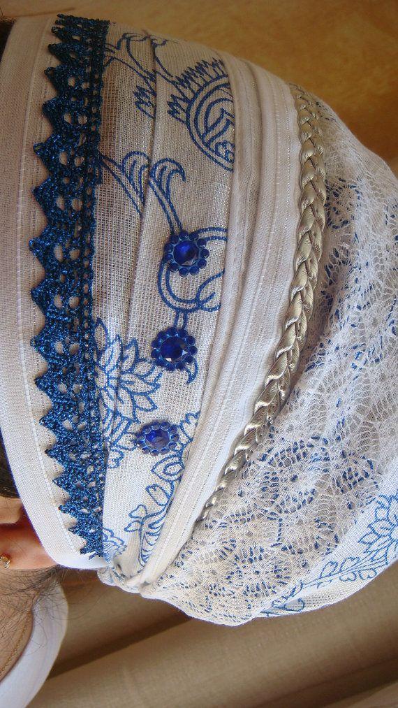 White Shabbat Sinar Tichel - tichel,Hair Snood, Head Scarf,Head ...