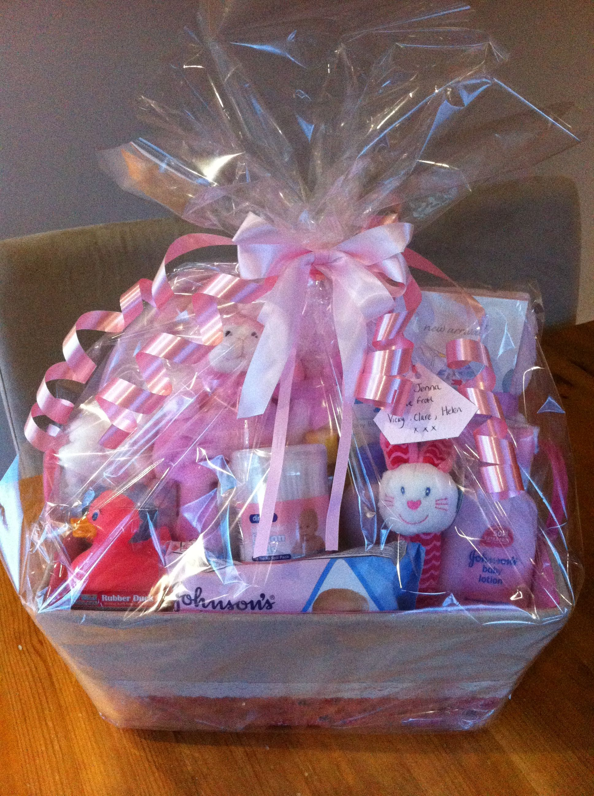 Baby girl hamper, baby shower gift. Lots of newborn essential's and a few extra little gifts!!