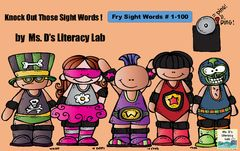 Knock Out Sight Words Game! Enter for your chance to win 1 of 4. Knock Out Sight Words --Fry 1-100 game  (17 pages) from Ms. D's Literacy Lab on TeachersNotebook.com (Ends on on 12-10-2015) Your students will master the Fry Sight Words (1-100) game ! They will ask for this game over and over again. Perfect for readers who need sight words repeated frequently and ELL learners ! .