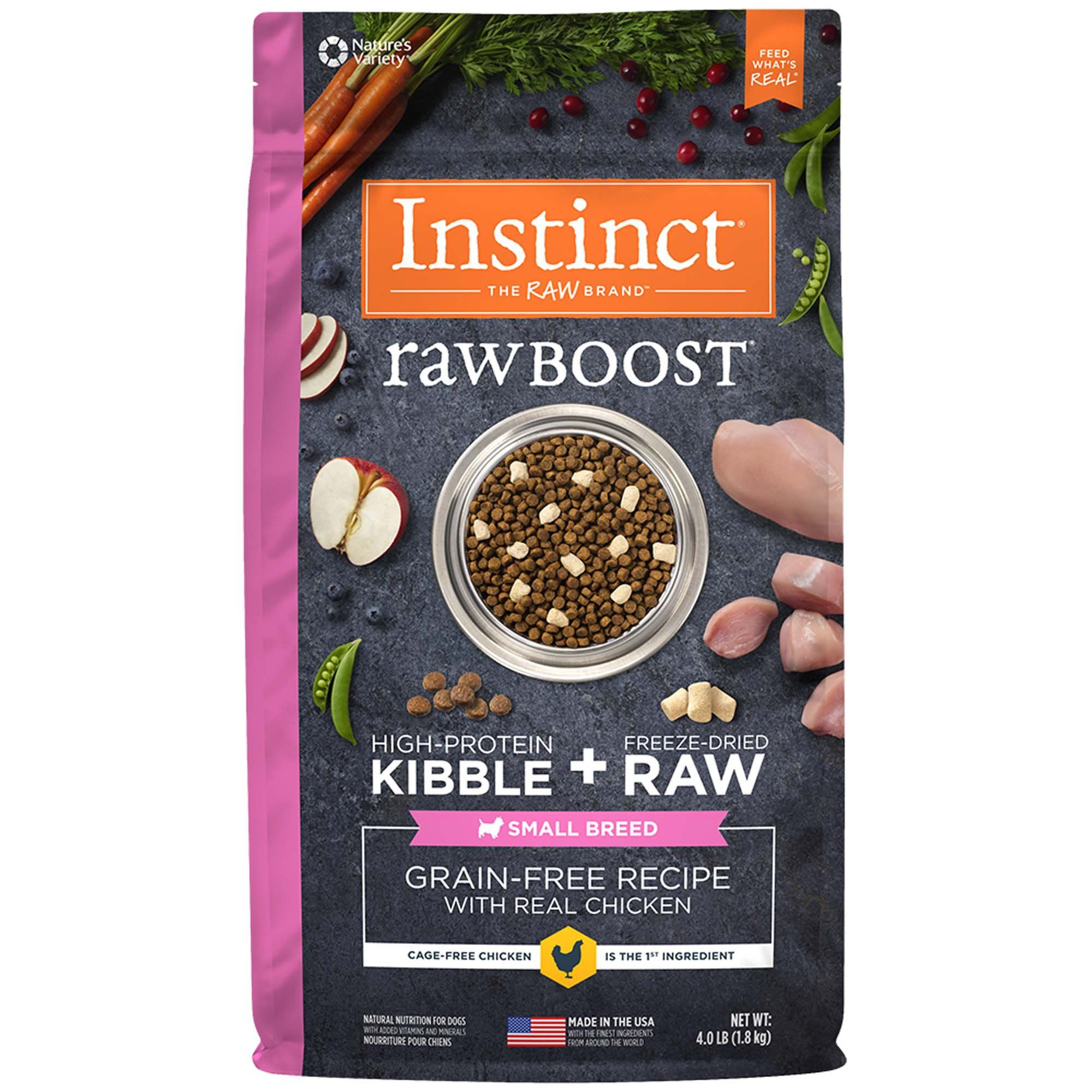 Instinct raw boost small breed grainfree recipe with real