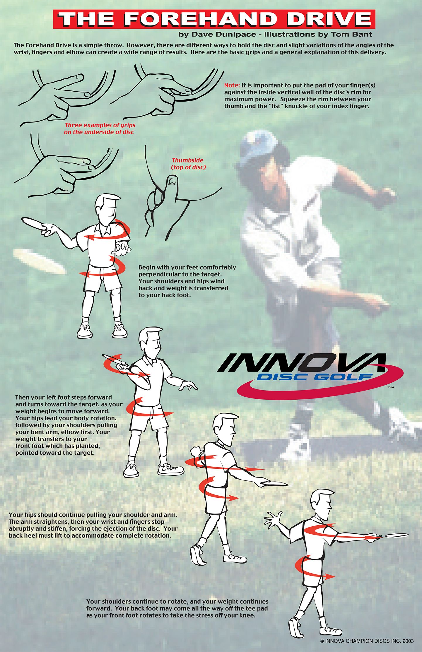 how to throw disc golf forehand