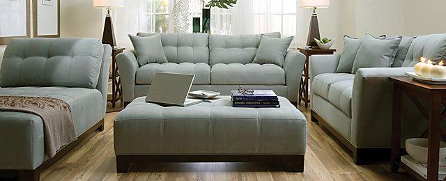 Fontana Contemporary Microfiber Living Room Collection
