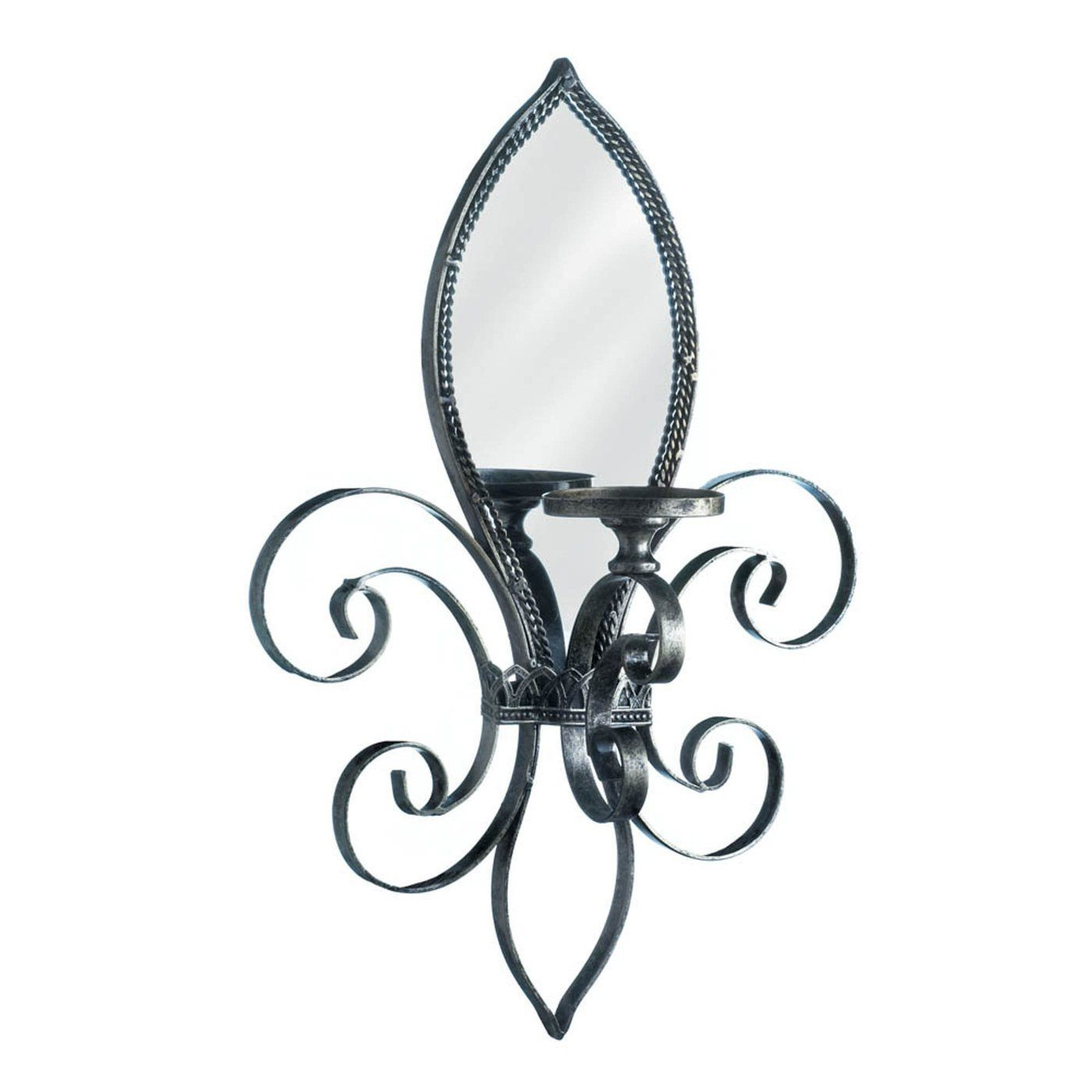 Photo of Fleur-De-Lis Mirrored Wall Sconce