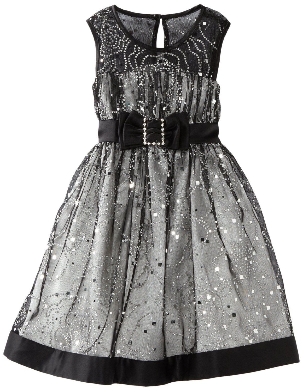38bd9da5dc9 Flower Girl Dress. Amazon.com  Bonnie Jean Girls 2-6X Silver Foil Mesh Dress
