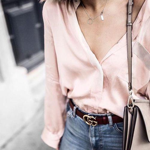 Imagen de belt, blouse, and details
