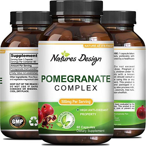 Natural Pure Pomegranate Supplement For Women Men Powerful