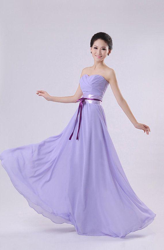 Lavender Purple Short Kneelength Long By Lemonweddingdress