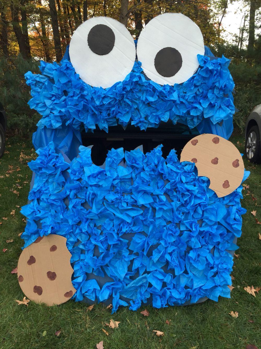 Monster Halloween Cookies: Cookie Monster! Trunk Or Treat Idea!