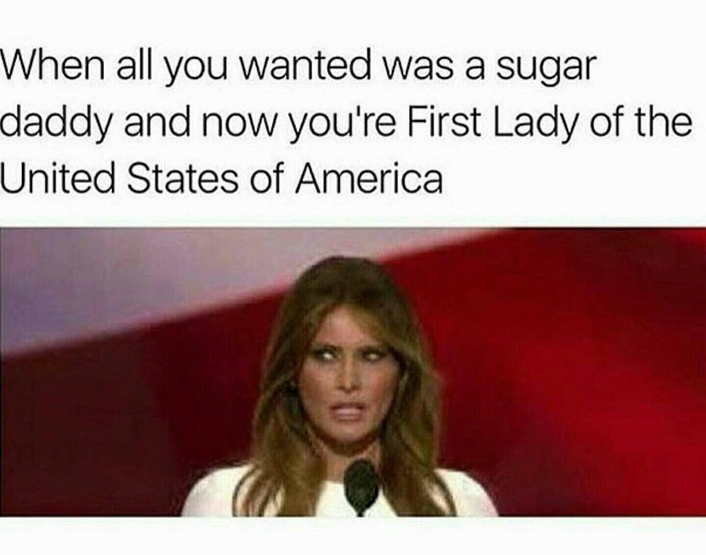 Melania Trump Sugardaddy Meme   Random   Funny, Funny ...