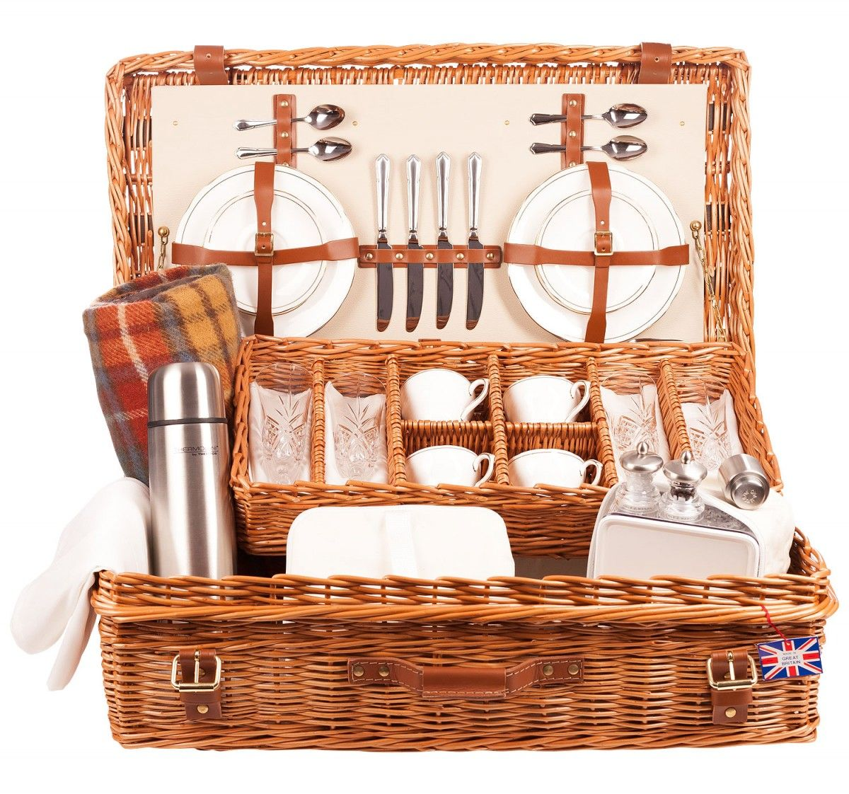 The Goodwood 4 Person Luxury Picnic Hamper In Cream