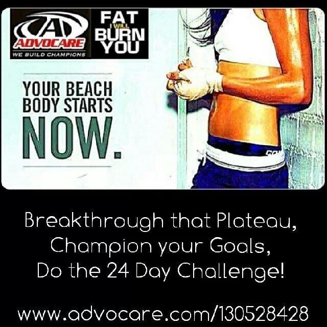 Whatever your goals are in breaking through that plateau, losing that extra weight you gained over the holidays or just wanting your wellness back on track, I can help. Inbox me for more details on the 24 Day Challenge, your jumpstart to weightloss www.advocare.com/130528428