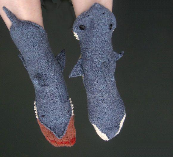 Shark Socks Knitting Crochet Pinterest Shark Socks And Socks