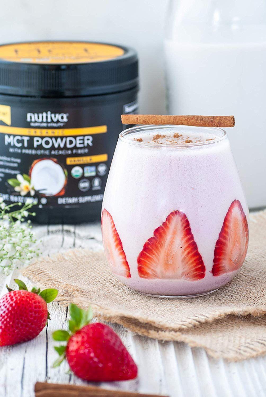 Keto friendly vanilla coffee creamer mct powder with