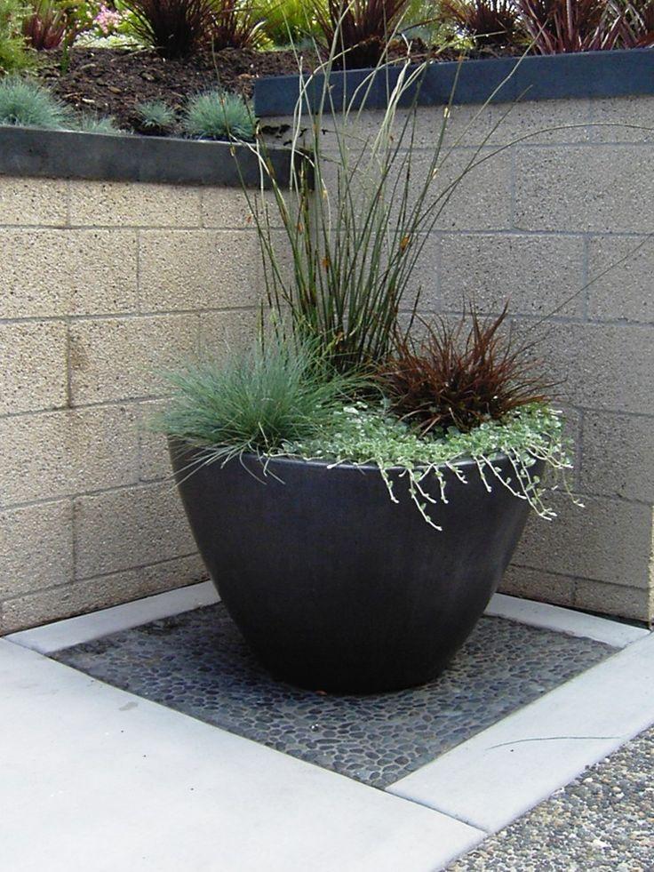 Sensational Plant Pots Decorating Ideas For Aesthetic Deck Contemporary Design Ideas Container Garden Design Contemporary Landscape Design Container Plants