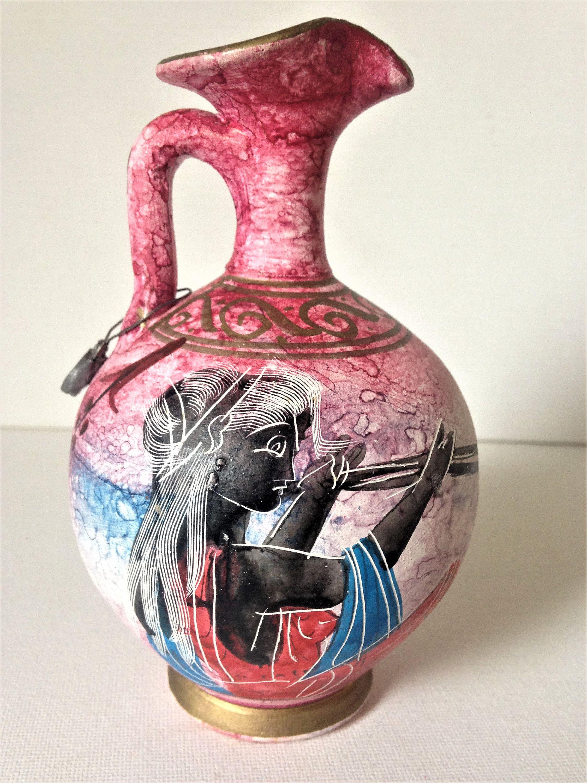 Miniature Wine Jug Greek Wine Jug Greek Pottery Etsy Greek Wine Wine Jug Greek Pottery