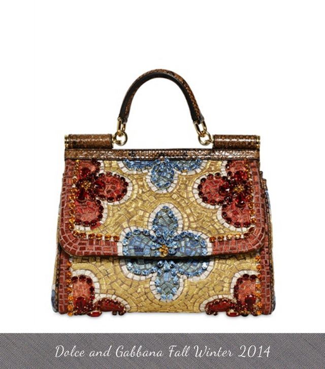 082135a81a8c Dolce and Gabbana Fall Winter Bags 2013 embroidered and crystal flower  mosaic