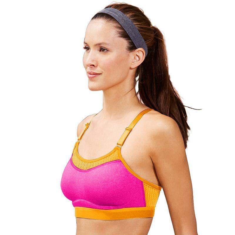Champion Bra: The Show-Off High-Impact Wire-Free Sports Bra 1666, Women's, Size: