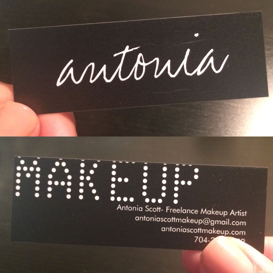 My make up artist business cards. Please follow my