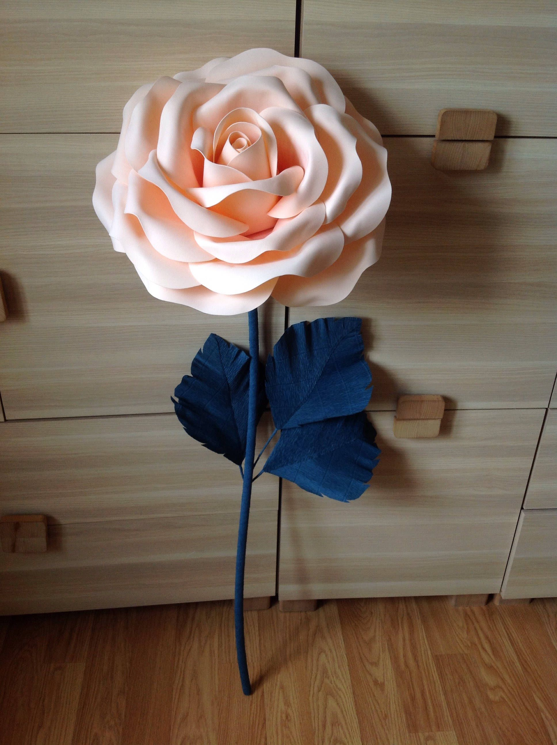 Giant Paper Flower Stem Paper Flowers Lagre Paper Flowers Stand With