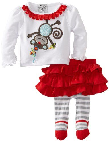 Mudpie Baby Clothes Gorgeous Amazon Mud Pie Babygirls Infant Monkey Skirt Set Clothing Design Inspiration
