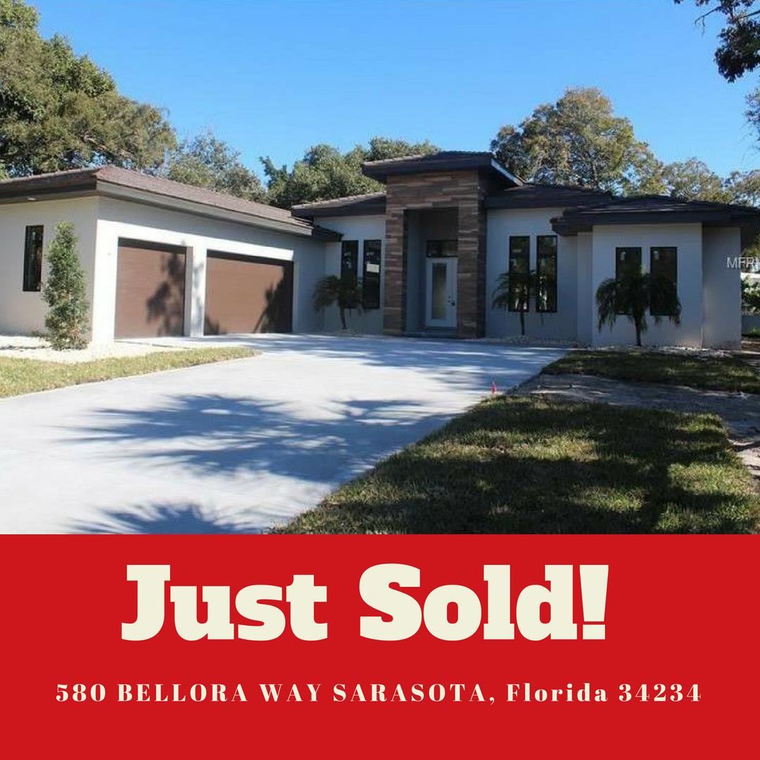 JUST SOLD 580 Bellora Way, Sarasota Florida 34234 For