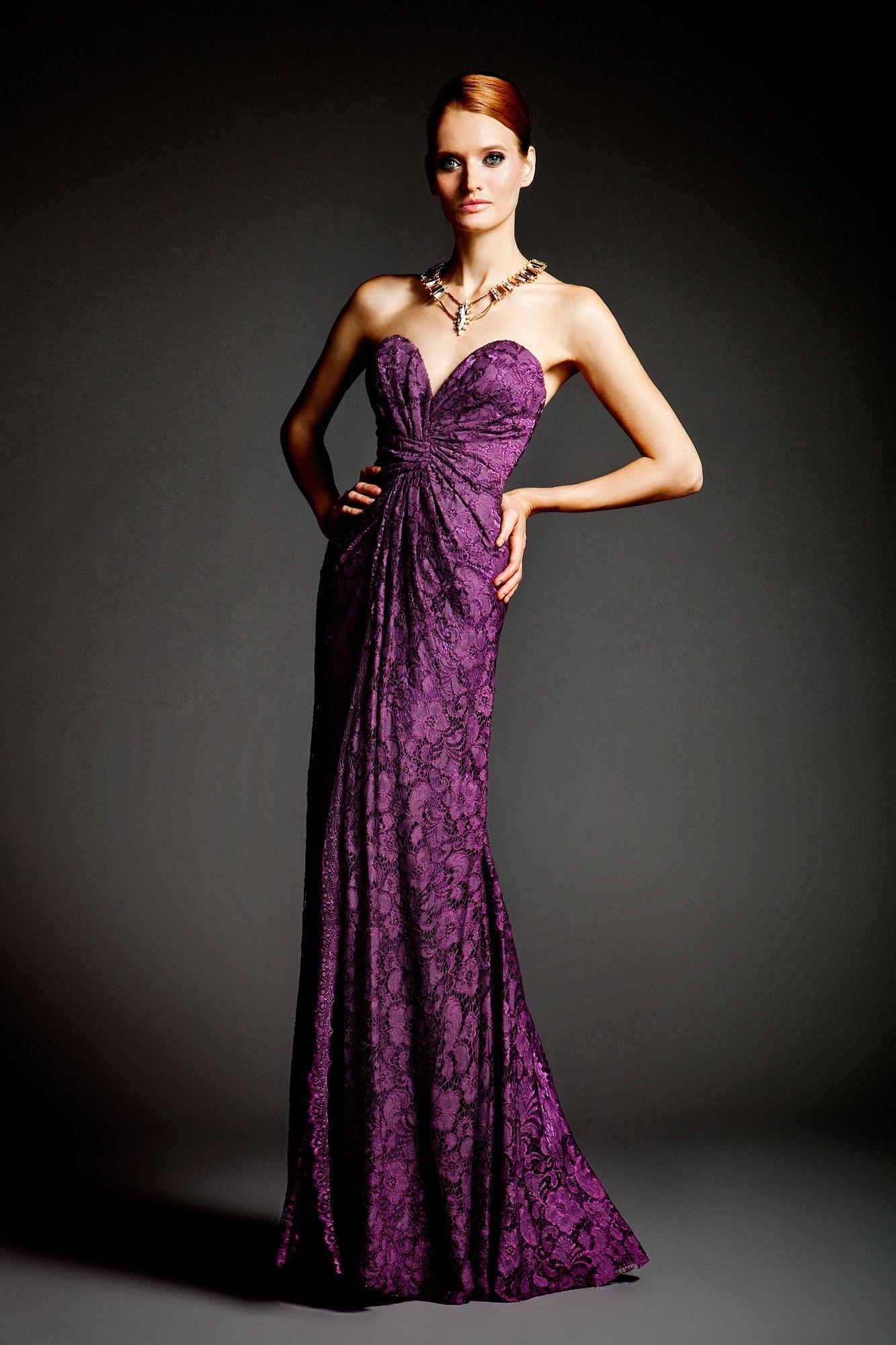 Dalia mcphee purple lace gown purple everything pinterest