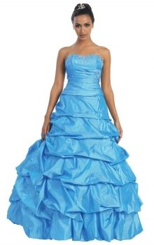 5729be073e8 Blue Ball Gown Strapless
