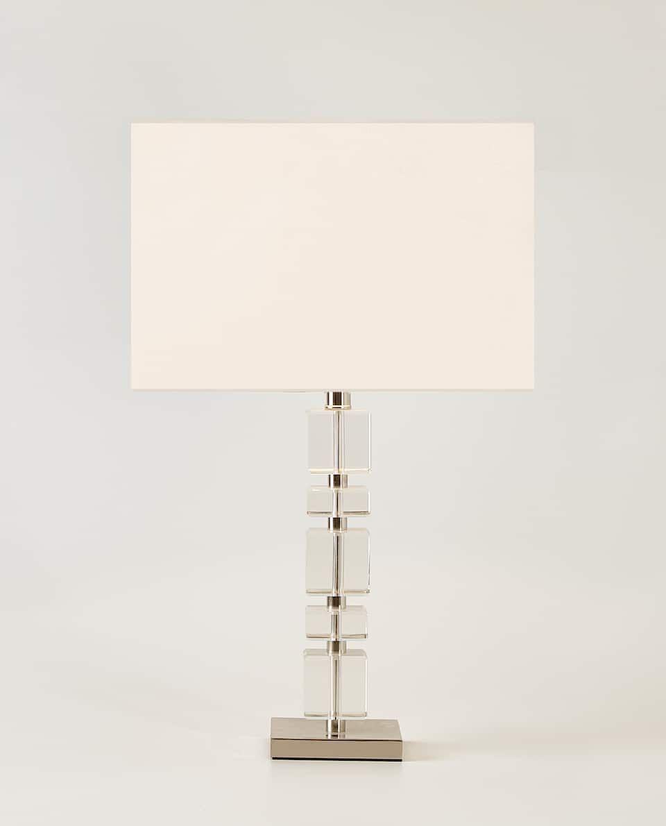 Crystal Cubes Lamp Lighting Decoration Zara Home Sverige Sweden Lampe Luminaire Zara Home