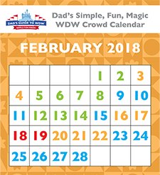 February 2018 Crowd Calendar Small | disney addict! | Pinterest ...