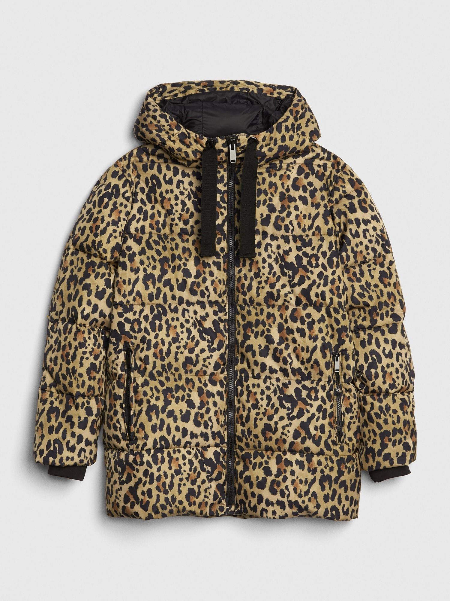 Coldcontrol Max Hooded Print Puffer Jacket Gap Autumn Fashion Casual Padded Jacket Fashion [ 2000 x 1500 Pixel ]