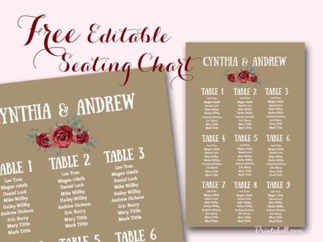 free-editable-marsala-wedding-seating-chart-template-printable - free wedding seating chart templates